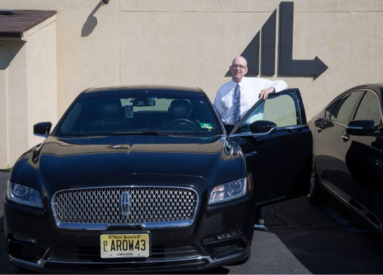 Arrow Limousine is a family-owned business that provides everything from wedding service and birthday celebrations to business outings and airport transportation.  Employee Paul Zayne with a Lincoln Continental.  Red Bank, NJTuesday, April 16, 2019