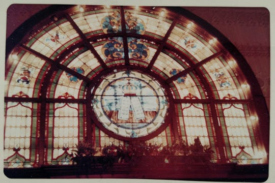 The stainless glass in the original Congregation Brothers of Israel synagogue at 85 Second Ave. in Long Branch.