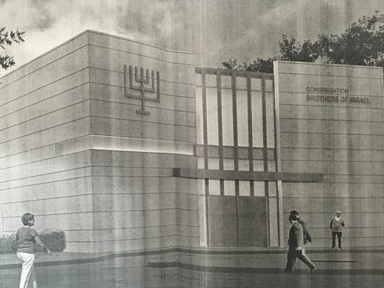 Rendering of the proposed Congregation Brothers of Israel synagogue as it appears in plans submitted to the Long Branch Zoning Board.