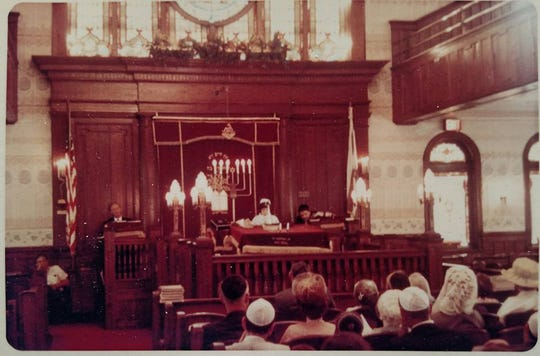 The interior of the original Congregation Brothers of Israel synagogue at 85 Second Ave. in Long Branch.