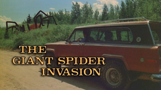 "A still from ""The Giant Spider Invasion,"" provided by RiffTrax."