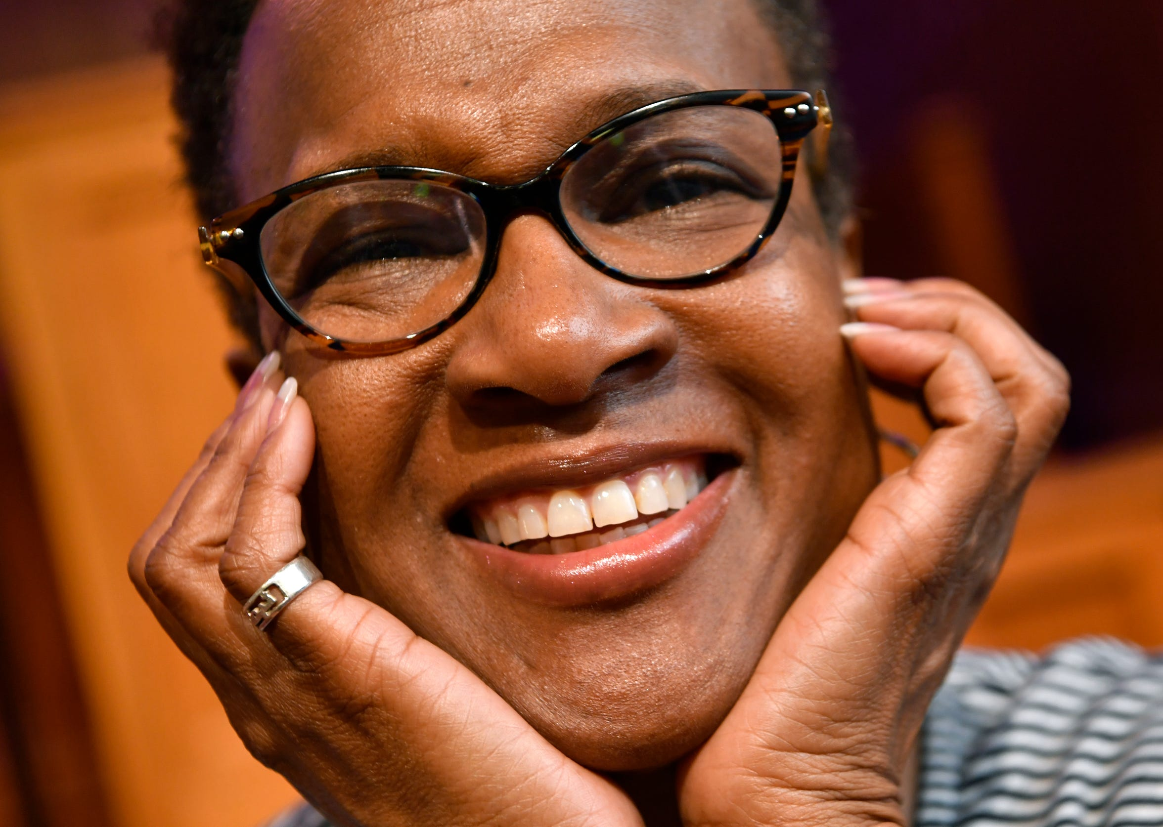 Felicia Hopkins is known for her smile and upbeat ministry.