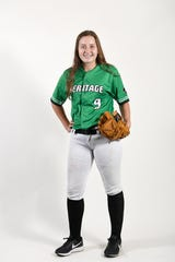 Brooke Hensley is a freshman pitcher for the Mountain Heritage softball team.
