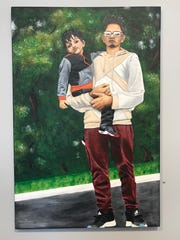 """""""Their Highness My Brothers"""" by Urwah Imran took home the award for Level of Difficulty at the Broome County Art Council's 2019 Emerging Artists Competition & Exhibition."""
