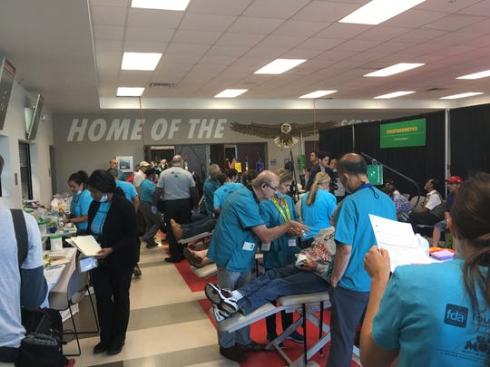 Thousands of dentists, technicians and volunteers gathered in Orlando in 2019 to provide more than $2 million in dental care services to nearly 1,850 patients as part of the Florida Mission of Mercy event.