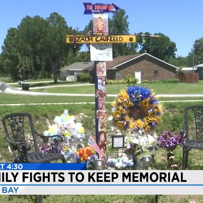 Neighbor complains about roadside memorial built to remember Palm Bay teen killed in crash