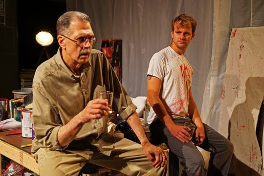 """Steven Wolf, who plays the artist Mark Rothko and Zack Roundy, who is his assistant, Ken, star in """"Red."""""""