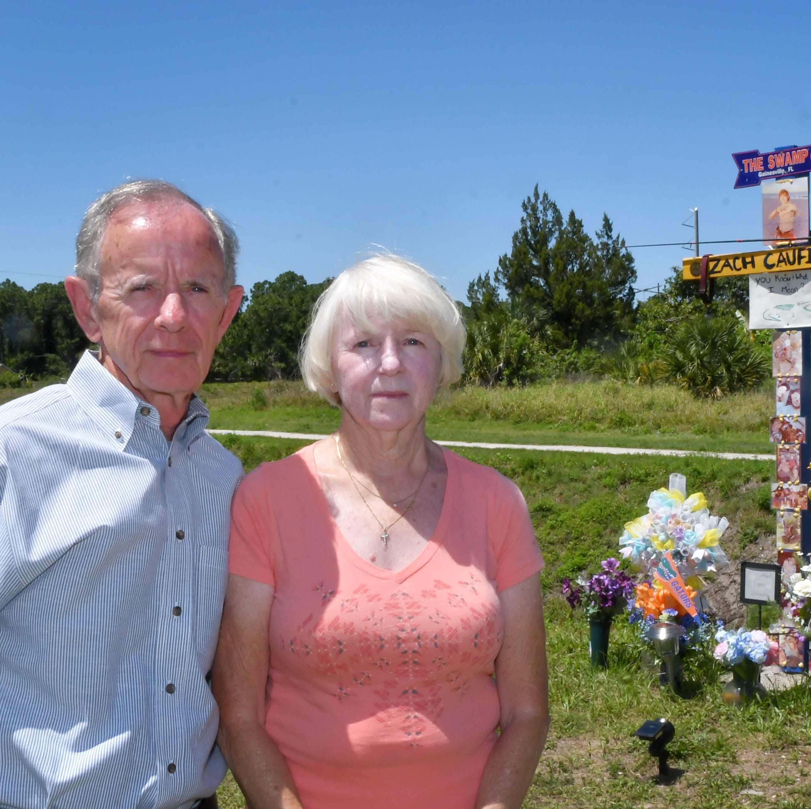 Roadside memorial in Palm Bay draws support, criticism