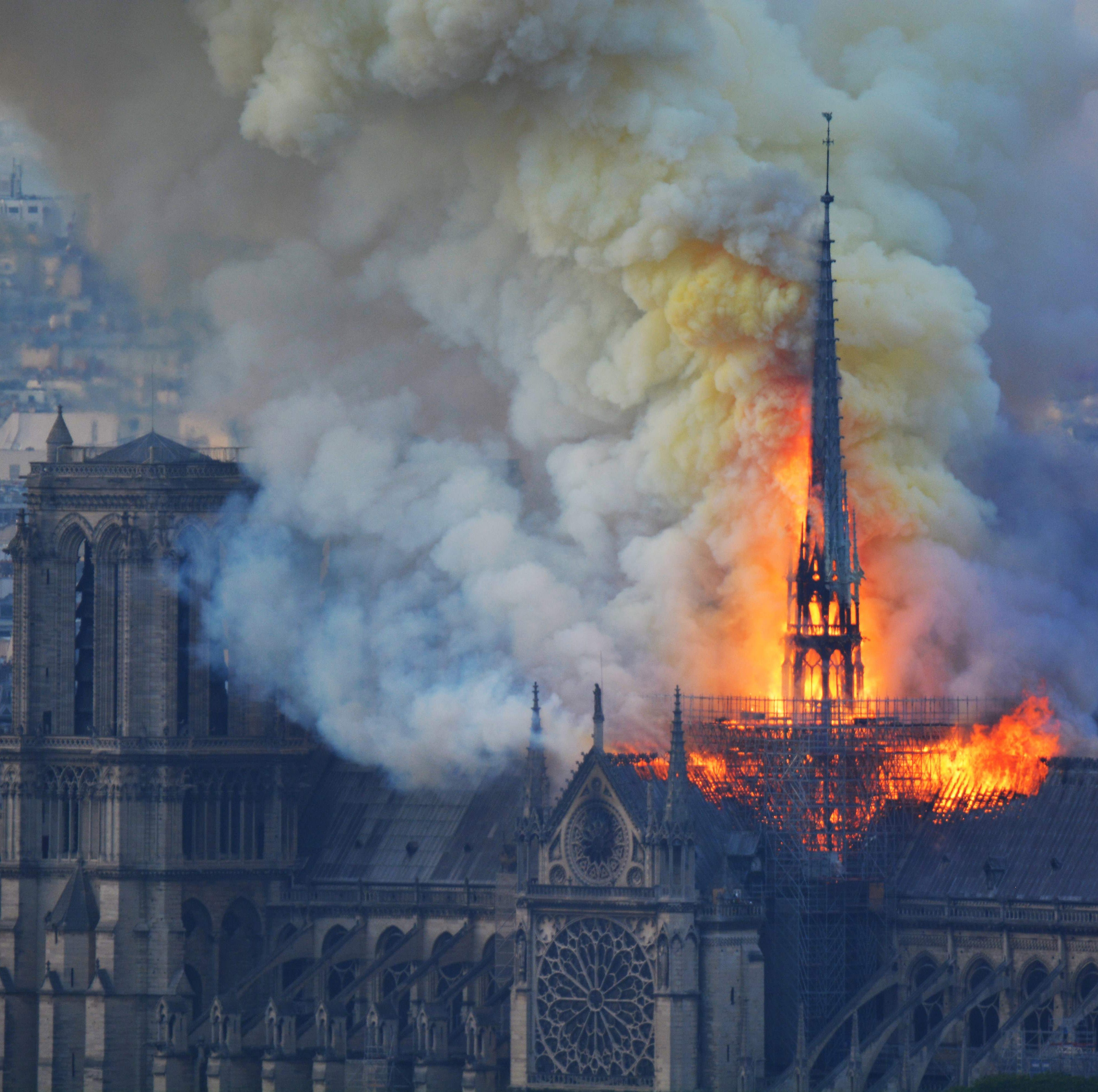 What was the meaning behind Cincinnati Democrat's Notre Dame Cathedral fire 'example of privilege' tweet?