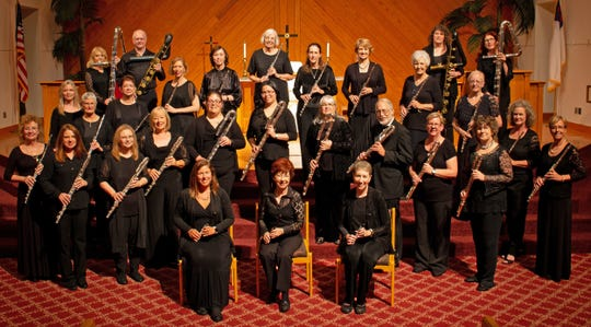 """Fall in love with flutes of all shapes and sizes during """"Flutes in Love,"""" the Space Coast Flute Orchestra's free concert April 28 in Indialantic."""