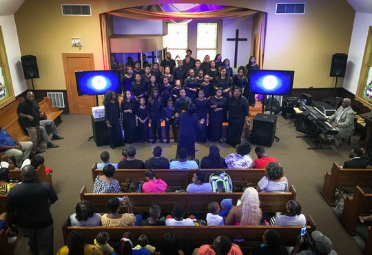 The Singing Sensations, a children's choir from Baltimore, performed at The REAL Church in Cocoa for the children and families of homicide victims.