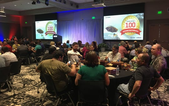 Harris Corp. employees, customers and other dignitaries gathered Tuesday at the Palm Bay facility to mark the milestone.