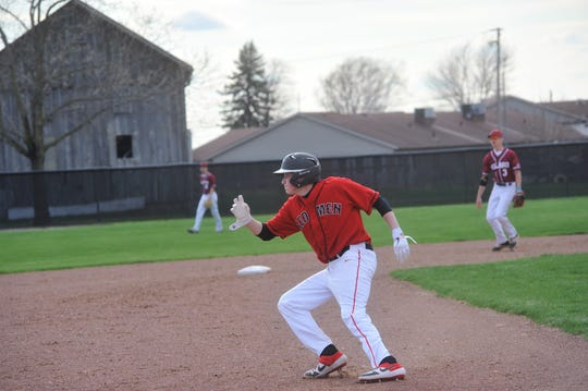 Trevor Ley was one of eight seniors on the Redmen roster this season.