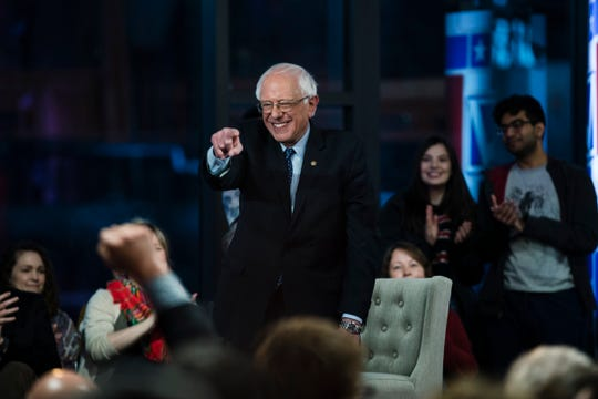 Sen. Bernie Sanders, I-Vt., takes part in a Fox News town-hall style event, Monday April 15, 2019 in Bethlehem, Pa.