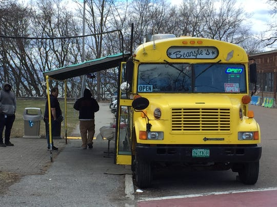 Beansie's Bus reopened for the season Tuesday, April 16, 2019. The longtime Burlington lunchtime destination marks its 75th anniversary this year.