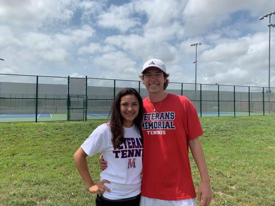 Veterans Memorial tennis' Hailey Rios and Jason Loyd