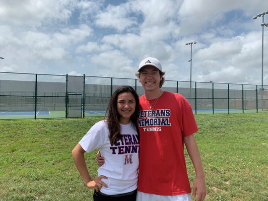 Veterans Memorial tennis' Hailey Rios and Jason Loyd