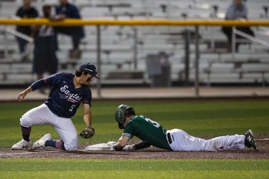 Veterans Memorial plays King at Cabaniss Baseball Field on Monday, April 15, 2019.