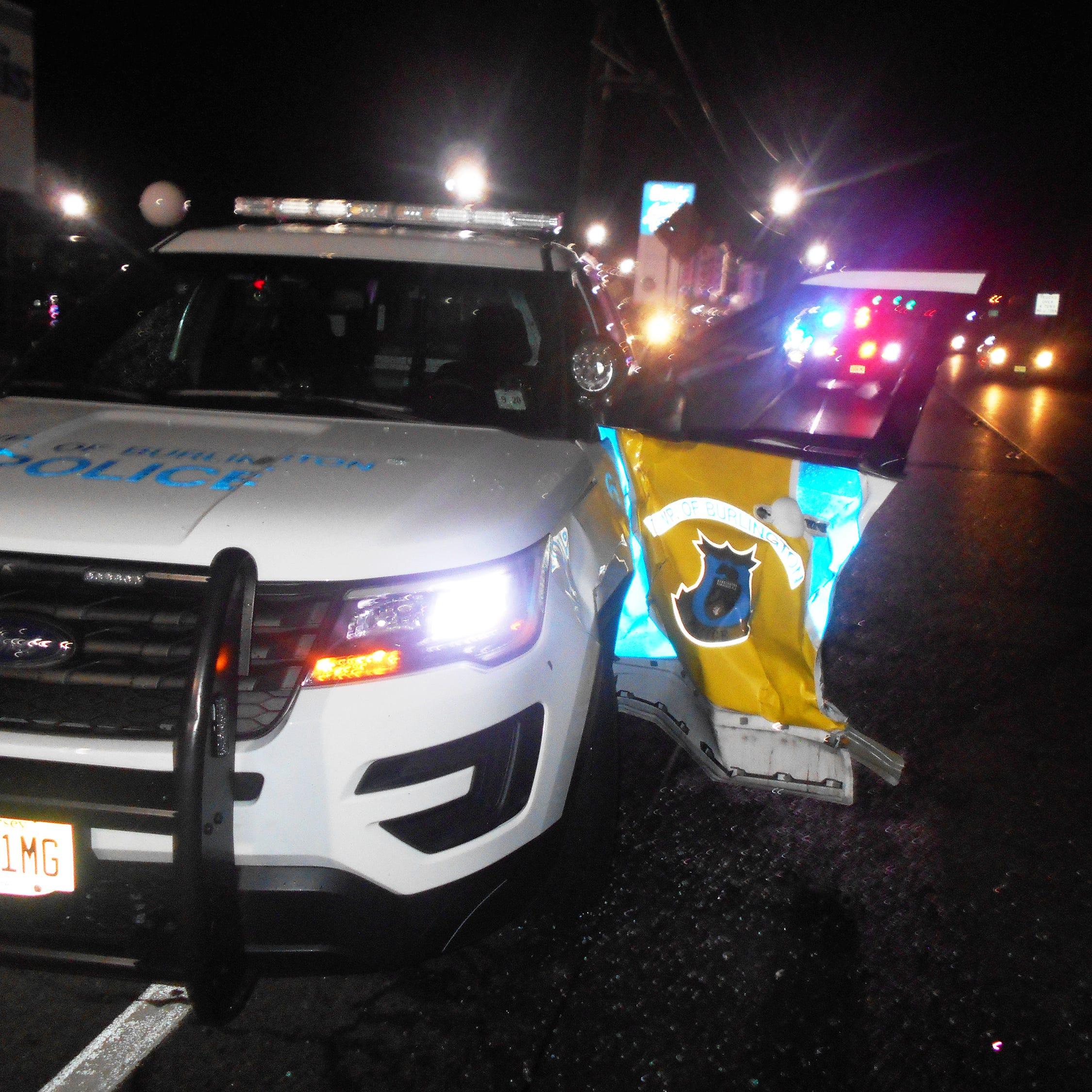 Body cam captures moment passing motorist struck police cruiser