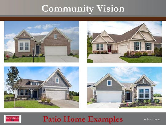 These are some of the designs of homes planned for the Westfall Preserves subdivision in West Chester Township.