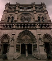 Exterior of the Cathedral Basilica of the Assumption, Covington.
