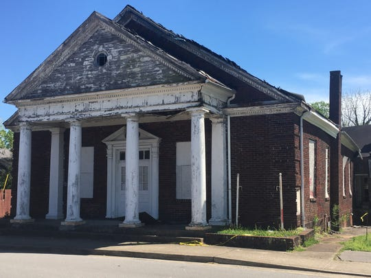 The structure on Washington Street that formerly served as Wesley Chapel Christian Methodist Episcopal Church is likely to be razed through an arrangement pending with the city.