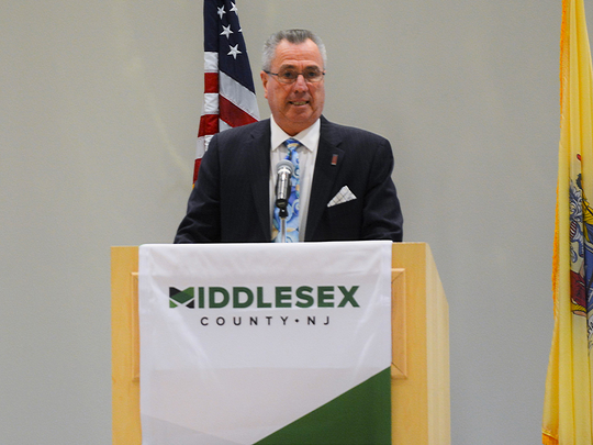 Middlesex County Board of Chosen Freeholders Director Ronald G. Rios delivered the 2019 State of the County address on April 11.