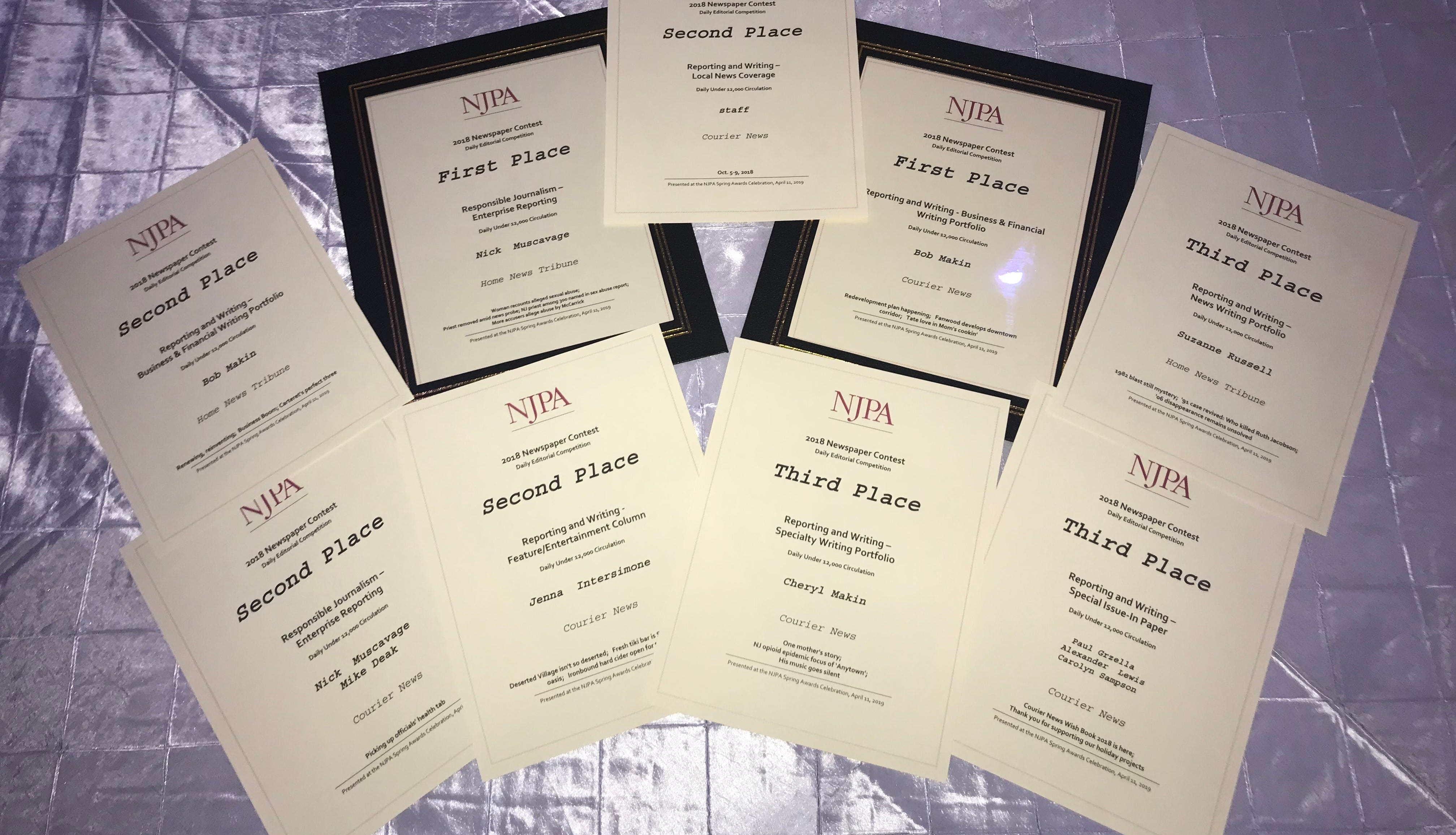 MyCentralJersey.com, Courier News, Home News Tribune journalists honored by NJPA
