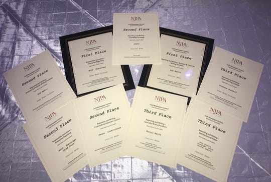 The Courier News and The Home News Tribune came away with nine high profile awards Thursday at the annual New Jersey Paper Association (NJPA) 2018 Better Newspaper Contest Awards ceremony at the Hamilton Manor in Hamilton.