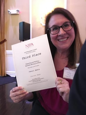 The Courier News and The Home News Tribune came away with ninehigh profile awards Thursday at the annual New Jersey Paper Association (NJPA)2018 Better Newspaper Contest Awards ceremony at the Hamilton Manor in Hamilton. Cheryl Makin received a third place award for specialty writing about the local opioid epidemic.