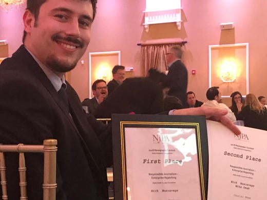 """The Courier News and The Home News Tribune came away with ninehigh profile awards Thursday at the annual New Jersey Paper Association (NJPA)2018 Better Newspaper Contest Awards ceremony at the Hamilton Manor in Hamilton. Nick Muscavage won a first place and a second place award in the """"Responsible Journalism"""" category."""