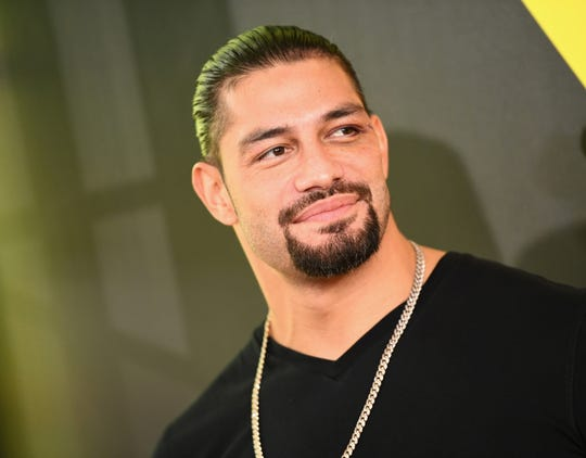 Wrestler Roman Reigns attends the Nickelodeon Kids' Choice Sports 2018 at Barker Hangar on July 19, 2018 in Santa Monica, Calif.