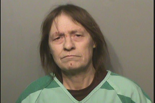 Debra Ann Sly, 56, was arrested at Polk County Jail for allegedly dropping methamphetamine while turning herself in for a separate crime.