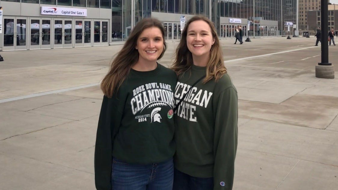 A heckler chanted 'Larry Nassar' at a Michigan State game. A survivor was there
