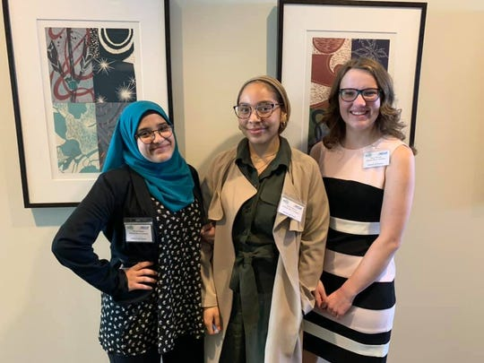 High school students from Michael Berry Career Center in Dearborn were runners-up in a first round of the Personal Finance Challenge competition at the Federal Reserve Bank of Chicago's Detroit Branch. The team: Miryim Hanek, 17; Alexa Monroy, 17; and Riley Ketvirtis, 18.