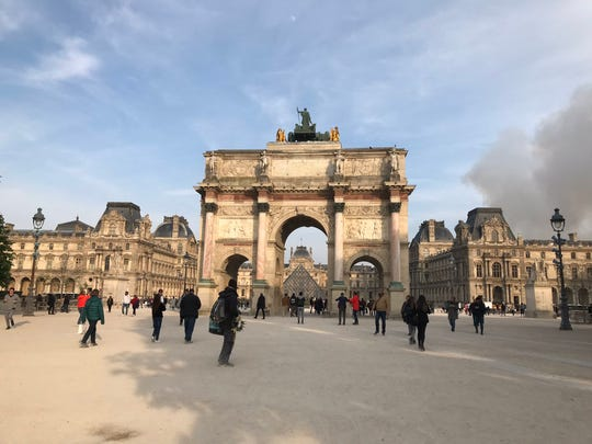 Michigan native Brooke Windsor took this picture in Paris, France, Monday, April 15, 2019. Windsor, who is vising the country with friends, spotted smoke when she took the picture.