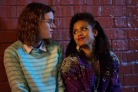 "Mackenzie Davis and Gugu Mbatha-Raw in the ""Black Mirror"" episode ""San Junipero."""