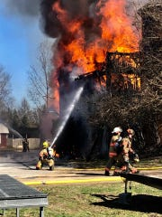 Firefighters from multiple departments spent hours battling the flames.