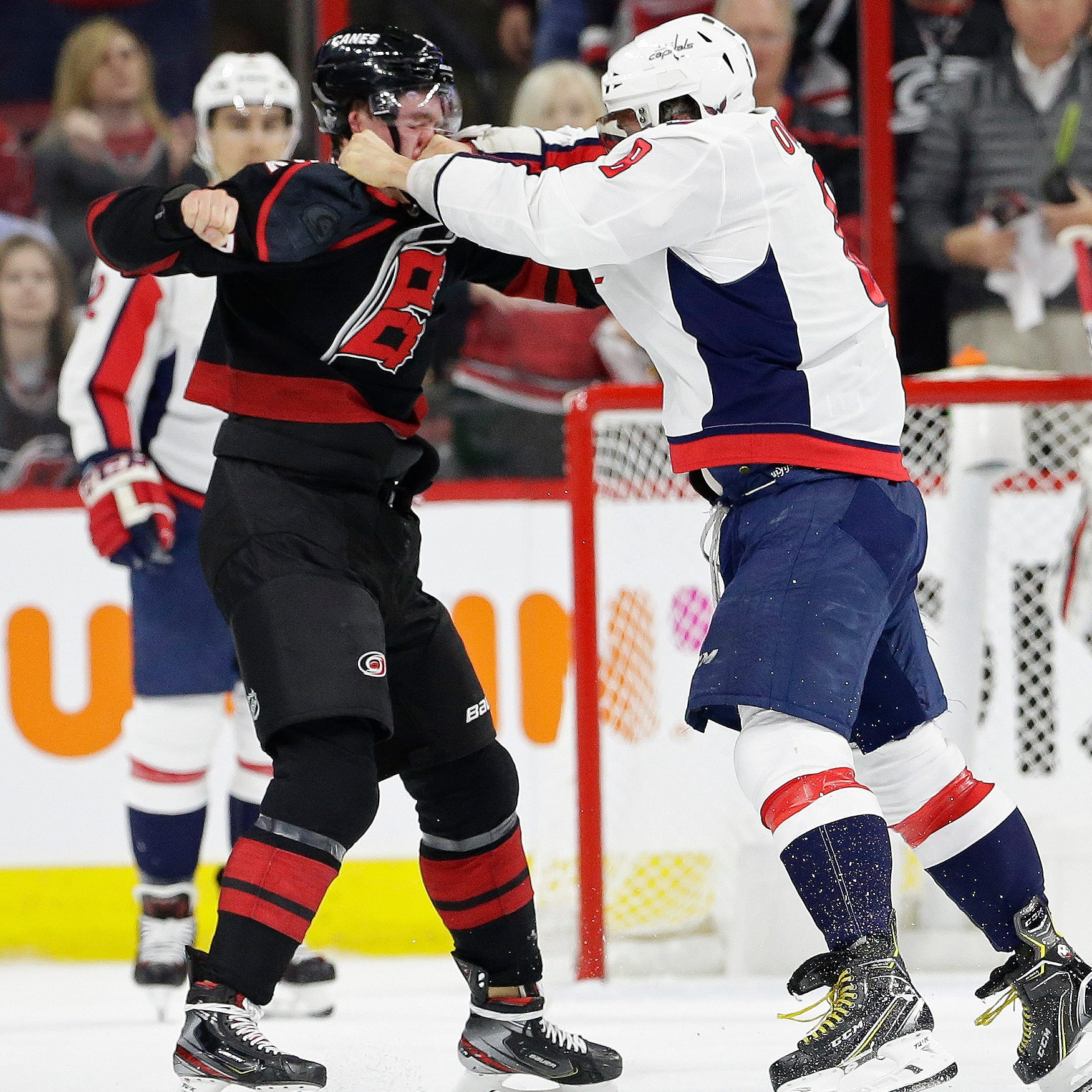 Red Wings' Evgeny Svechnikov threatens Alex Ovechkin after Capitals star KOs brother