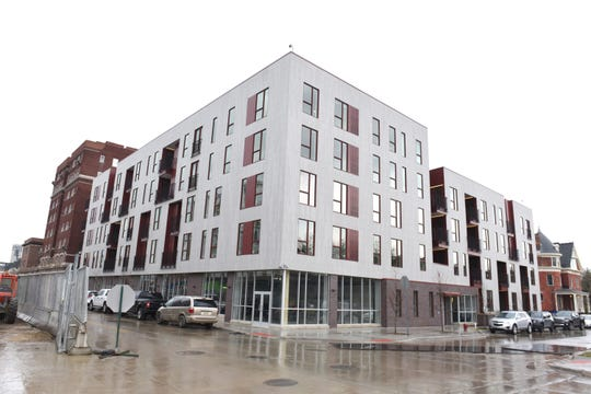 The Flats at 124 Alfred is the first of six apartment buildings in the City Modern Development to be completed.