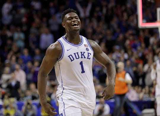 Duke's Zion Williamson is projected to be the No. 1 pick June's NBA draft.