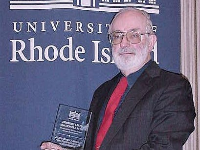 Herbert MacDonell of South Corning was honored by the University of Rhode Island Alumni Association with the group's award for professional achievement. MacDonell, a graduate of the university, did pioneering work in bloodstain pattern interpretation.
