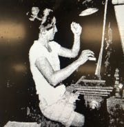 Evansville native and Bosse High School graduate Nina Lee Powell Rodman plays the carillon in 1978. She once played the organ at Notre Dame Cathedral.