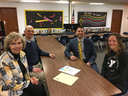 Valerie Graczyk has collaborated with school staff and local organizations to make her Summer of Fun program possible. Pictured, front left, Valerie Graczyk; back left, Michael Mockert, principal of Rosenow Elementary School; back right Donald Ryan, principal of Parkside Elementary School; and Jenny Mildebrandt, YMCA Senior Program Director.