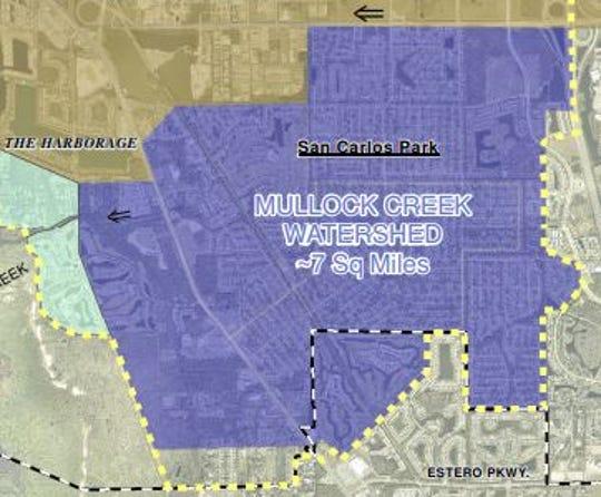 Mullock Creek provides drainage to much of San Carlos Park