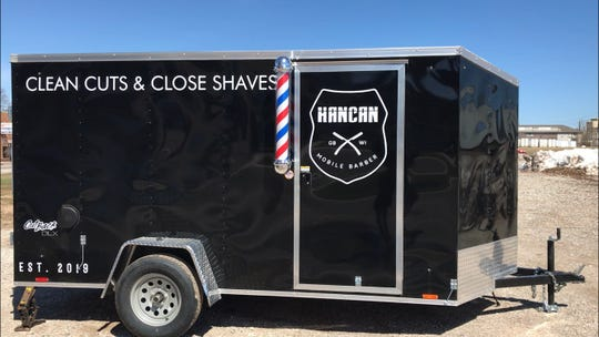 The HanCan Mobile Barber trailer will be available for private events as well as at public events like the Farmers Market on Broadway.