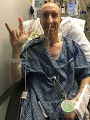 Andy Nelson after a double lung transplant in July 2016