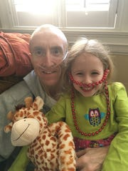 Andy Nelson with daughter, Naomi, then 4, before the transplant.
