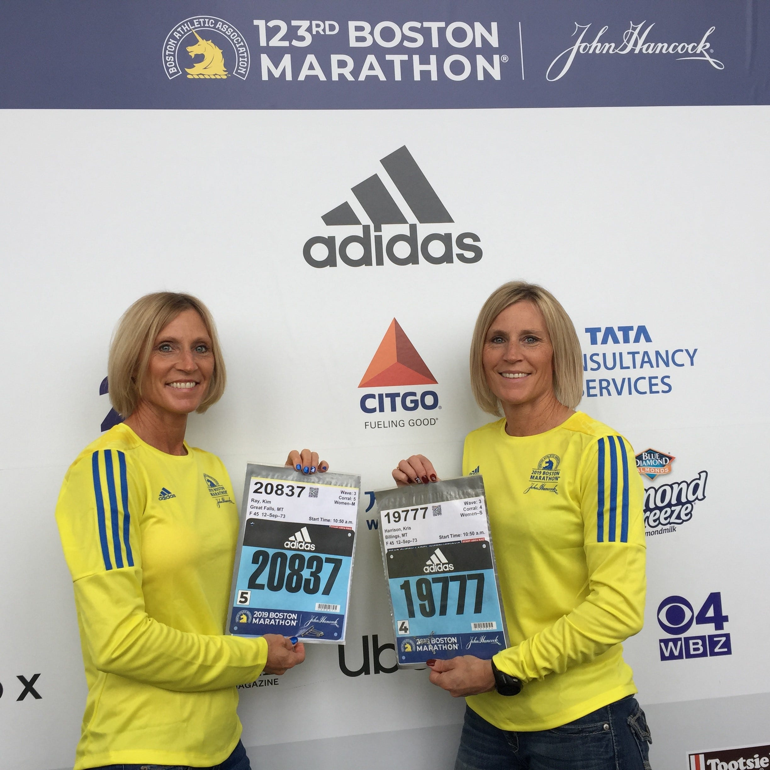 Twin sisters, CMR coach represent Great Falls at Boston Marathon