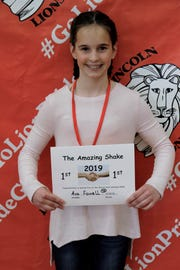 Ava Fowell took home first place at Lincoln Elementary's first district 'Amazing Shake' competition.